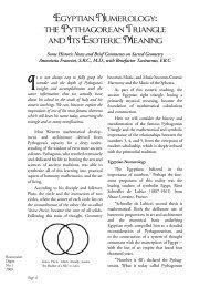 Egyptian Numerology: The Pythagorean ... - Rosicrucian Order