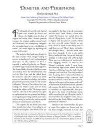 Demeter and Persephone - Rosicrucian Order