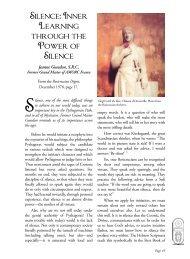 Silence: Inner Learning through the Power of ... - Rosicrucian Order