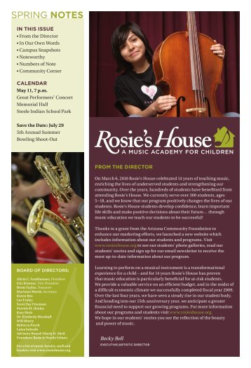 SPRING NoTeS - Rosies House