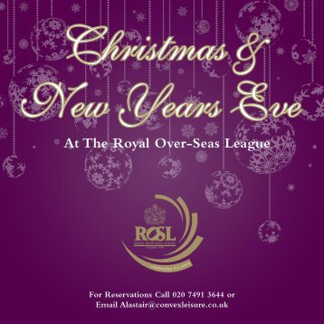 To view the menu please click here - Royal Over-Seas League