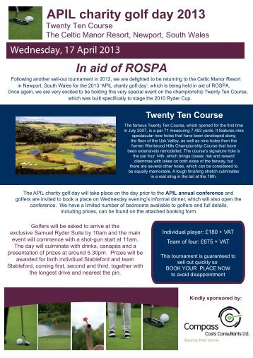 APIL charity golf day 2013.ai - RoSPA