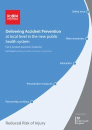 Evaluating accident prevention programmes - RoSPA