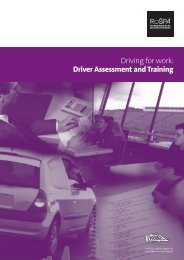 Driving for Work: Driver Assessment and Training (PDF) - RoSPA