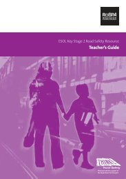 ESOL Key Stage 2 Road Safety Resource : Teachers' Guide - RoSPA