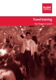 Travel training - Key Stages 3 and 4 - RoSPA