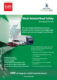 Work Related Road Safety Seminars - RoSPA