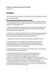 Housing & Land Supply Analysis - Rossendale Borough Council