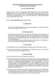 Satzung über die Erhebung einer Zweitwohnungssteuer - Roßhaupten
