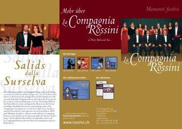 "Aktueller Flyer der ""La Compagnia Rossini"" als PDF-Datei."