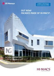 HI-MACS® as facade - Rosskopf & Partner AG