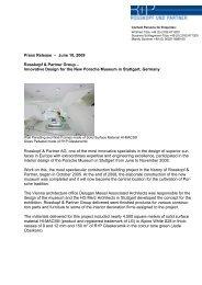 Press Release – June 10, 2009 Rosskopf & Partner Group ...