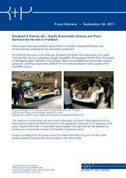 Press Release – September 28, 2011 Rosskopf & Partner AG ...