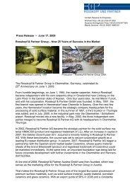 Press Release – June 17, 2009 Rosskopf & Partner Group – Now 25 ...