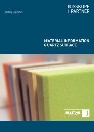 Material Information - Rosskopf & Partner AG