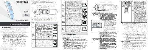Instruction Manual - Rossmax