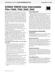 KODAK VISION Color Intermediate Film / 5242, 7242, 2242, 3242