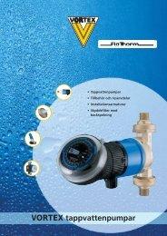 VORTEX tappvattenpumpar - Deutsche Vortex Gmbh & Co. KG