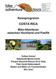 Reiseprogramm - Bike Adventure Tours