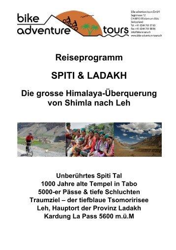 SPITI & LADAKH - Bike Adventure Tours