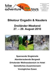 Biketour Engadin & Nauders - Bike Adventure Tours