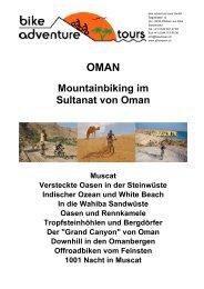 Mountainbiking im Sultanat von Oman - Bike Adventure Tours