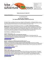 Medieninformation 22. März 2013 neu ab Frühling 2013: MIT BIKE ...