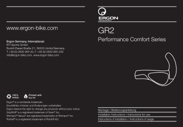 Performance Comfort Series www.ergon-bike.com