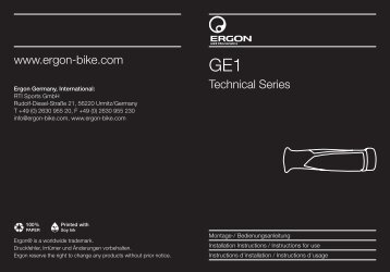 Technical Series www.ergon-bike.com