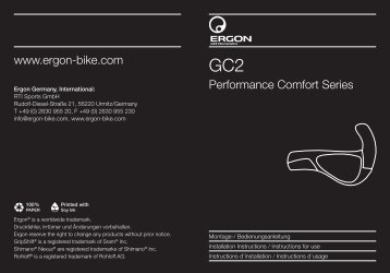 Performance Comfort Series www.ergon-bike.com