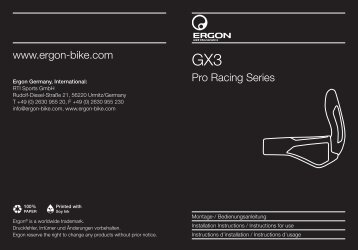 Pro Racing Series www.ergon-bike.com