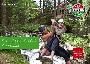 Spiel, Sport, Spaß & Abenteuer - Gargellen