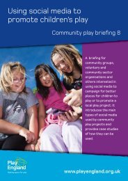 Using social media to promote children's play - Play England