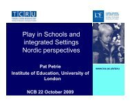 Play in Schools and integrated Settings Nordic ... - Play England