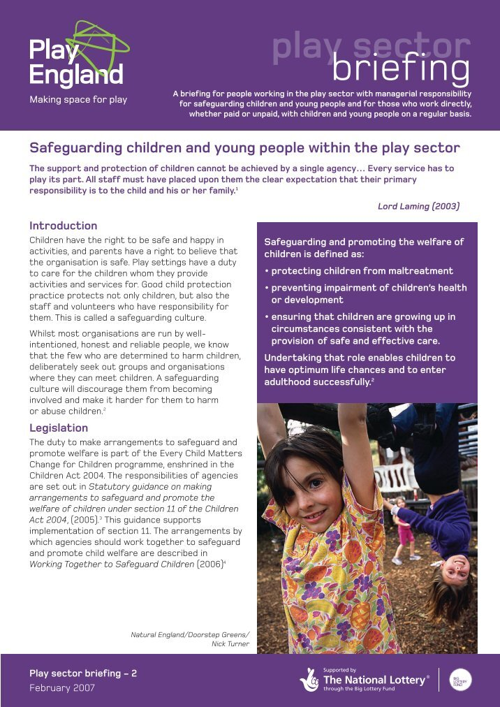 safeguarding children and young people 2 essay Unit 16 code p5 understand safeguarding of children and young people 1 understand policy, procedures and practices for safe working with children and young people1:1 explain policies, procedures and practises for safe working with children and young people.