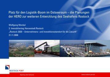 Platz für den Logistik-Boom im Ostseeraum – die ... - Rostock