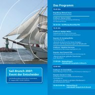 Sail-Brunch 2007: Event der Entscheider Das ... - Rostock Business