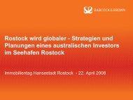 Strategien und Planungen eines australischen Investors ... - Rostock