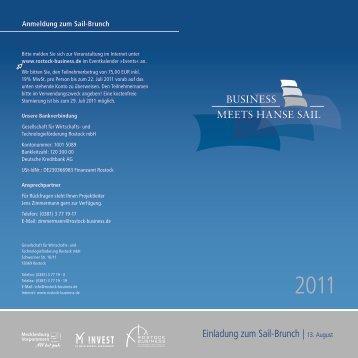 Druckversion Programm Sail-Brunch - Rostock Business