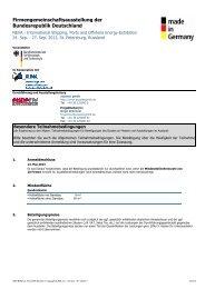 Teilnahmebedingungen - Rostock Business