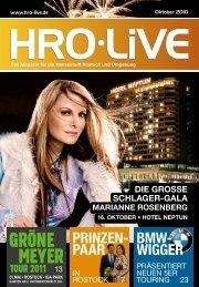 16. OktobeR • Hotel NeptUn - HRO·LIFE - Das Magazin für die ...