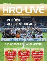 ZuRück AuS dem uRLAuB - HRO·LIFE - Das Magazin für die ...