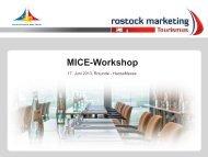 MICE-Workshop - Rostocker Gesellschaft für Tourismus und ...