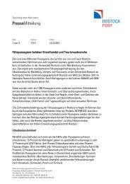 Fährpassagiere beleben Einzelhandel und ... - Rostock Port