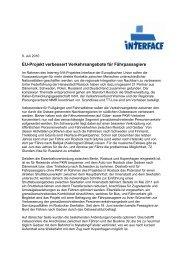EU-Projekt verbessert Verkehrsangebote für ... - Rostock Port