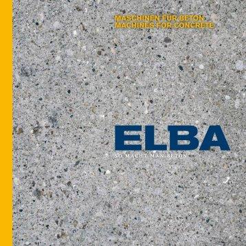 Imagebroschüre als PDF herunterladen - ELBA-WERK Maschinen ...