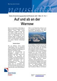 Auf und ab an der Warnow - Rostock Port