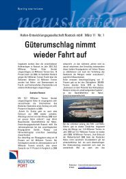Güterumschlag nimmt wieder Fahrt auf - Rostock Port