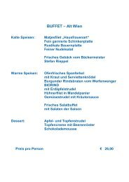 BUFFET – Alt Wien