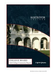 COLLEGE BOARD - Rostrevor College